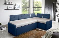 Кухонный уголок, диван  Кухонный диван Оскар (бело-синий)