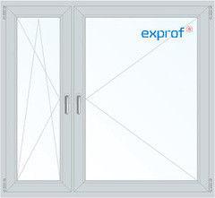 Окно ПВХ Exprof 1460*1400 2К-СП, 6К-П, П/О+П