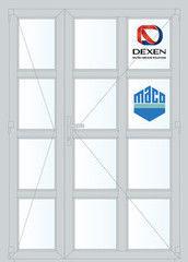 Дверь ПВХ Дверь ПВХ Dexen 1350*2100 двустворчатая Модель 59
