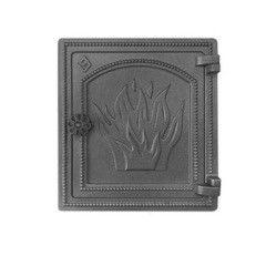 Комплектующие для печей и каминов Везувий Дверка печная ДТ-4 (антрацит)