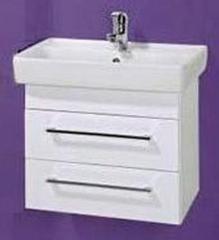 Мебель для ванной комнаты Акваль Тумба Паола 60 белая (умывальник Бергамо 60)