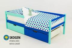 Детская кровать Детская кровать Бельмарко Skogen мятно-синий