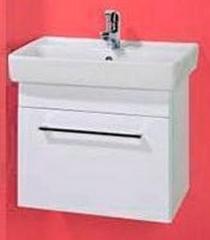 Мебель для ванной комнаты Акваль Тумба Паола 60 белая (умывальник Бергамо 60, один ящик)