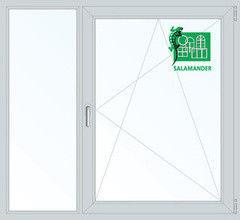 Окно ПВХ Окно ПВХ Salamander 1460*1400 2К-СП, 5К-П, Г+П/О
