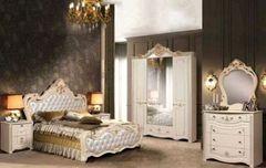 Спальня Слонимдревмебель Амелия 4-д (белая, золото)