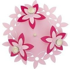 Детский светильник Nowodvorski 6895 Flowers Pink III plafon