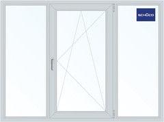 Алюминиевое окно Schuco 2060*1420, Г+П/О+Г