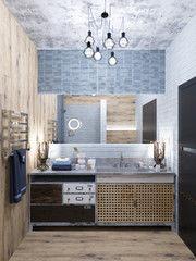 Дизайн ванной PuzzleHome Вариант 15