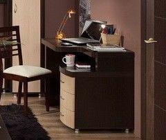 Письменный стол Глазовская мебельная фабрика Элегия-1 венге/ дуб отбеленный