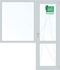 Окно ПВХ Окно ПВХ Salamander 1860*2160 2К-СП, 5К-П, П/О+Г