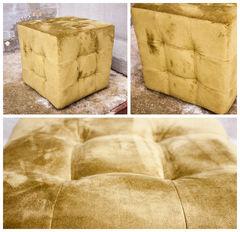Пуфик Пуфик Мебельный конструктор с каретной стяжкой желтый