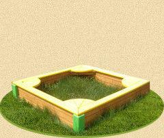 PlayComplex Песочница «C уголками» 1,3х1,3 м