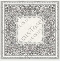 Tissus Toselli Скатерть Cashmir Taupe 145х145
