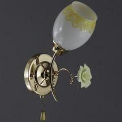 Настенный светильник Белсветоимпорт БС 33830C/1 золото коричневый белый