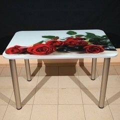 Обеденный стол Обеденный стол ИП Колеченок И.В. стекло с УФ-печатью 1100x800x22 (ножки Глобо)
