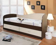 Детская кровать Детская кровать Мебель-Класс Лагуна-2 МК-300.02 (венге/ дуб шамони)