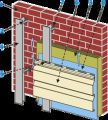 Вентилируемый фасад Вентилируемый фасад Изомат-Строй из панелей типа W