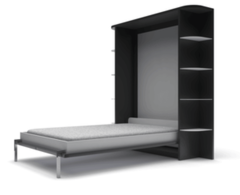 Мебель-трансформер Кровать-шкаф Mebelin вертикальная черная