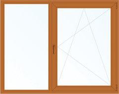 Деревянное окно Дуб 1460*1400, 1с, Г+П/О