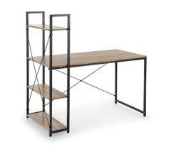 Письменный стол Halmar Narvik B1 (дуб сонома/черный)
