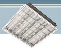 Встраиваемый светильник Албес RVA 418G в потолок типа Грильято