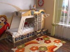 Двухъярусная кровать СлавМебель Паровозик