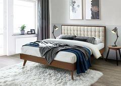 Кровать Кровать Halmar Solomo 160 (бежевый/орех)