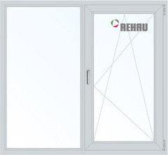 Окно ПВХ Rehau 1300*1400 2К-СП, 4К-П, Г+П/О