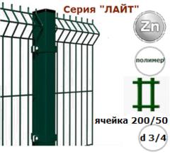 Забор Забор Завод Фрунзе Панель евроограждения 3D Лайт 1730х2500 d3/4 полимер