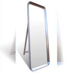 Зеркало Онсет Данстан 160x70 (белый шелк, серебро, барокко)