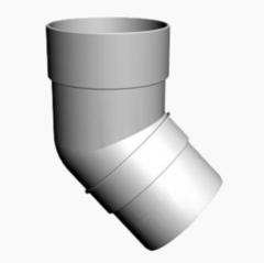 Водосточная система Docke Standard Колено трубы 45° (пломбир)