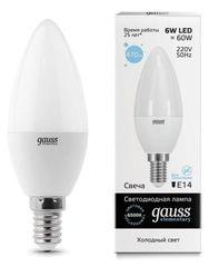 Лампа Лампа Gauss 33136, E14, C37, 6Вт