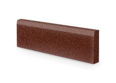 Резиновая плитка Rubtex Бордюр 1000x260 (коричневый)