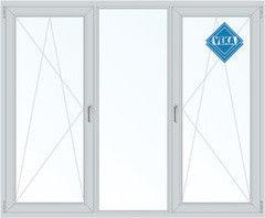 Окно ПВХ Окно ПВХ Veka Softline 2100*1400 2К-СП, 5К-П, П/О+Г+П/О