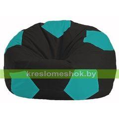 Бескаркасное кресло Бескаркасное кресло Kreslomeshok.by Мяч М 1.1-393 чёрный - бирюзовый