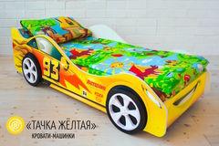 Детская кровать Детская кровать Бельмарко Тачка желтая