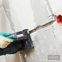 Услуга Штробление стен под электропроводку (бетон)