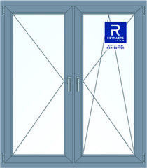 Алюминиевое окно Reynaers 1400*1600 П+ПО