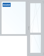 Окно ПВХ Окно ПВХ Deceuninck Фаворит Спэйс 1860*2160 2К-СП, 6К-П, Г+П/О