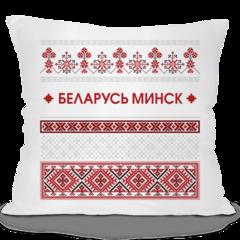 Декоративная подушка Карандаш Красно-серый узор 05685