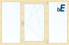 Окно ПВХ Окно ПВХ BluEvolution 92 2060*1420 2К-СП, 6К-П, Г+П/О+Г ламинированное (светлое дерево)