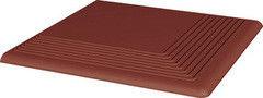 Клинкерная плитка Клинкерная плитка Ceramika Paradyz Natural Rosa ступень рельефная угловая 30x30