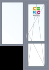 Алюминиевое окно Alutech C48 1440*2160 1К-СП Г+П/О