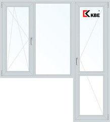 Окно ПВХ Окно ПВХ KBE 1860*2160 1К-СП, 3К-П, П/О+Г+П