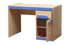 Детский стол Олмеко Лайф-3 (дуб линдберг/голубой)