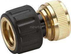 Система автоматического полива Karcher Коннектор Karcher Коннектор с аквастопом для шлангов 3/4 латунь 2.645-018.0