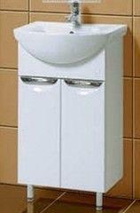 Мебель для ванной комнаты Акваль Тумба Аврора 50 с умывальником Палермо