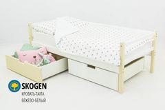 Детская кровать Детская кровать Бельмарко Skogen бежево-белый