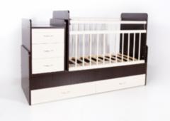 Детская кровать Кроватка Bambini трансформер (орех-слоновая кость)