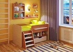 Двухъярусная кровать Легенда 6 с полками (ольха+венге светлый)